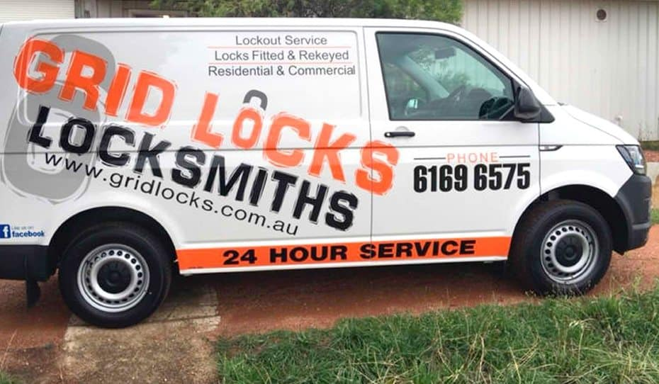 Grid Locks Locksmiths 24 hour emergency service van